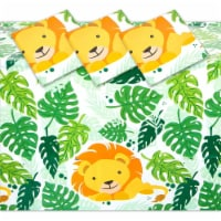 Plastic Lion Tablecloth for Safari Birthday Party Decorations (54 x 108 in, 3 Pack) - PACK