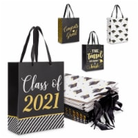 2021 Graduation Gift Bag Supplies for Party Decorations (10 x 8 x 4.5 In, 12 Pack) - PACK