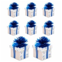Happy Birthday Balloon Weights Holder, Gift Box Party Decorations (6 oz, 8 Pack) - PACK