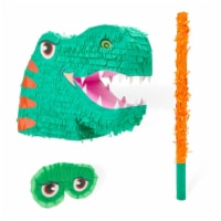 Large Dinosaur Pinata Set with Blindfold and Stick (14 x 20 x 5.5 In, 3 Pieces) - PACK