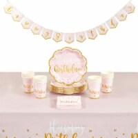 Princess Party Set, Paper Plates, Napkins, Cups, Table Cover(Serves 24) - PACK
