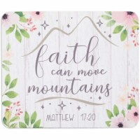 Floral Religious Mousepad, Faith Can Move Mountains, Matthew 17:20 (9.5 x 7.9 in) - PACK