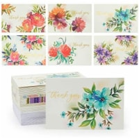 Floral Thank You Cards with Envelopes and Stickers (4 x 6 In, 48 Pack) - PACK