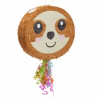 Sloth Pull String Pinata for Kids Birthday Party Supplies (16.5 x 13 x 3 In) - PACK