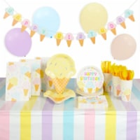Ice Cream Birthday Party Decorations, Dinnerware, Party Favor Bags (207 Pieces) - PACK