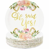 Bridal Shower Decorations, 9 Inch Paper Plates (9 In, 48-Pack) - PACK
