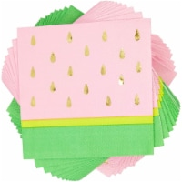 Sparkle and Bash Watermelon Themed Party Napkins (5.5 in., 50 Pack) - PACK
