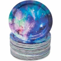 Galaxy Paper Plates for Outer Space Party (7 In, 80 Pack) - PACK