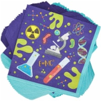 Science Birthday Party Decorations, Purple Paper Napkins (6.5 In, 100 Pack) - PACK