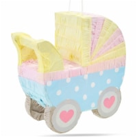 Small Baby Carriage Pinata for Baby Shower Party (11.5 x 12.25 x 5 Inches) - PACK