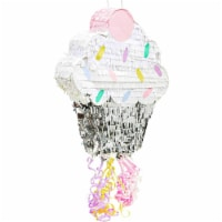 Small Cupcake Pinata for Birthday Party Supplies (15 x 13 x 3 Inches) - PACK