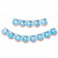 Airplane Party Decorations, Happy Birthday Banner (5.5 x 6 in) - PACK
