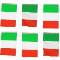 Juvale Italian Flag Banners (100 ft, 80 Flags) - PACK