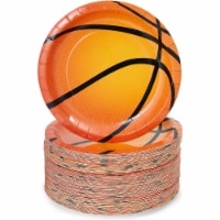 Basketball Paper Plates for Sports Party (7 In, 80 Pack) - PACK