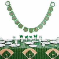 Baseball Birthday Party Pack, Dinnerware Set and Banner (Serves 24, 171 Pieces) - PACK
