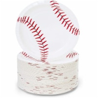 Baseball Plates for Sports Birthday Party (White, 7 Inches, 80 Pack) - PACK