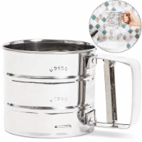 Stainless Steel Hand Held Flour Sifter (4 in) - Pack
