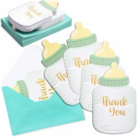 Baby Shower Thank You Cards with Blue Envelopes, Bottle Design (4 x 6 In, 36 Pack) - PACK