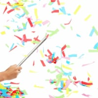 Colorful Confetti Wands for Birthday Party (14 in, 8 Pack) Silver - PACK