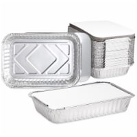 32ozTakeout Foil Pans with Lids, Aluminum Trays (8.26 x 5.7 x 1.77In, 50 Pack) - PACK