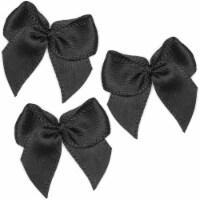 Mini Satin Ribbon Bows for DIY Crafting (Black, 1 Inch, 350 Pack) - PACK