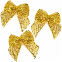Mini Satin Ribbon Bows for Crafting (1 x 1.2 Inches, Gold, 350-Pack) - PACK