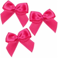 Mini Satin Ribbon Bows for Crafting (Rose Red, 1 Inch, 350-Pack) - PACK