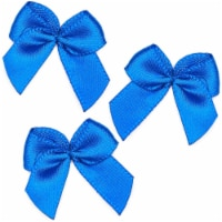 Mini Satin Ribbon Bows for Crafting (Blue, 1 Inch, 350-Pack) - PACK