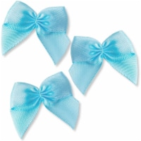 Mini Satin Ribbon Bows with Self-Adhesive Tape (Blue, 1.5 Inches, 200-Pack) - PACK