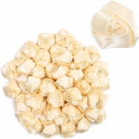 2-Inch Satin Rose Flower Heads for Bride Bouquet in Cream Color (50 Pack) - PACK