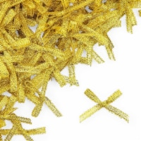 Mini Ribbon Bows for Crafts (1.2 in, Gold, 500-Pack) - PACK