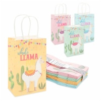 Llama Party Favor Paper Gift Bags with Handles, Whole Llama Fun Fiesta (24 Pack) - PACK