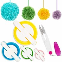 DIY Pom-Pom Maker Set with Thread Cutting Scissors (4 Pom Pom Decorations) - PACK