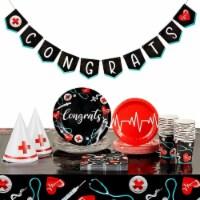 Nurse Graduation Party Supplies, Dinnerware Set and Decorations (Serves 24) - PACK