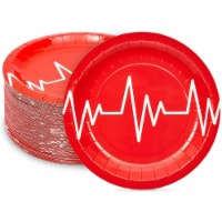 Nurse Graduation Party Supplies, Red Paper Plates (7 In, 80 Pack) - PACK