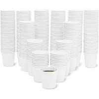 Hot and Cold Insulated Paper Cups (4 oz, White, 300 Pack) - Pack