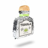 Tequila Bottle Pinata for 21st Birthday Party, Fiesta, Cinco de Mayo (16.5 x 13 In) - PACK