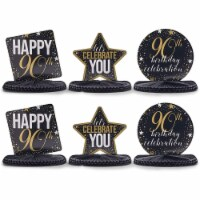 90th Birthday Party Honeycomb Centerpiece Decoration (12 x 11 In, 6 Pack) - PACK