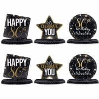 80th Birthday Party Honeycomb Centerpiece Decoration (12 x 11 In, 6 Pack) - PACK