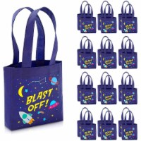 Outer Space Party Favor Tote Bags, Blast Off (6.5 x 7 x 1.77 In, 24 Pack) - PACK