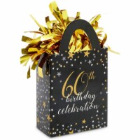 60th Birthday Party Mini Tote Balloon Weights (6 Pack) - PACK