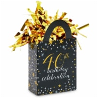 40th Birthday Party Balloon Weights, Black and Gold Decorations (6 oz, 6 Pack) - PACK