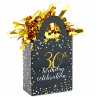 30th Birthday Party Balloon Weights, Black and Gold Decorations (6 oz, 6 Pack) - PACK