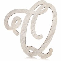 Unfinished Wooden Letter Q for Crafts, Cursive Wood Letters (13 In) - PACK