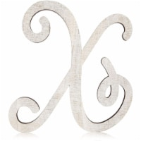 Unfinished Wooden Letter X for Crafts, Cursive Wood Letters (13 In) - PACK