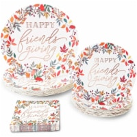 Happy Friendsgiving Paper Plates and Napkins for Thanksgiving Party (72 Pieces) - PACK