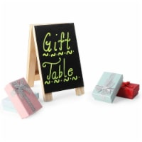 Chalkboard Easel Stand with Liquid Chalk Marker and White Chalk (2 Sets) - PACK