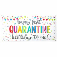 Quarantine Birthday Banner for Kids and Adults, Party Decoration (4 x 2 Ft) - PACK