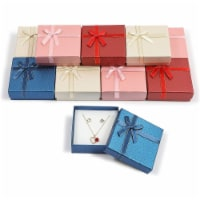 Bright Creations Jewelry Gift Box Set with Lids, Ribbon Bows (4 Colors, 3.5 x 1 in, 12 Pack) - PACK