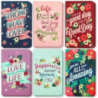 Motivational Pocket Travel Journals, Lined Notebooks (5.25 x 3.25 In, 12 Pack) - PACK